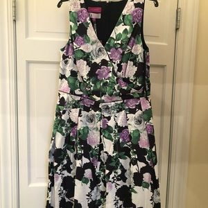 A flower pattern dress